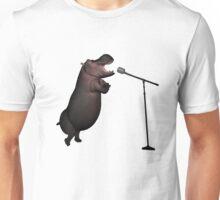 Musical Hippo Unisex T-Shirt
