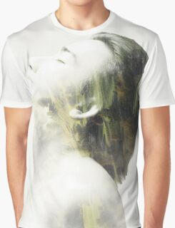 Double exposure of guy and forest Graphic T-Shirt