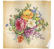 Antique Flowers Poster