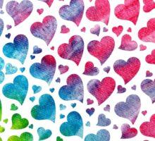 Tie-Dye Hearts Sticker