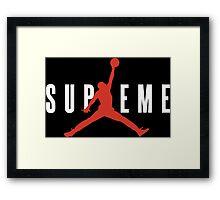 supreme jordan Framed Print