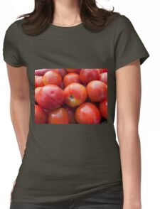 A pile of luscious bright red tomatoes Womens Fitted T-Shirt