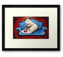 Prairie Dog and Birthday Cake Framed Print