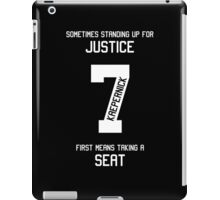 Taking a Seat for Justice iPad Case/Skin