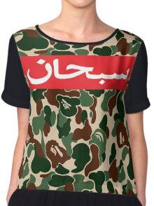 supreme arabic x bape army Chiffon Top