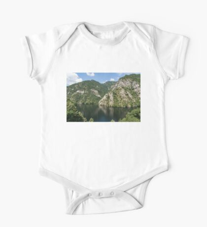 Rough Limestone - a Peaceful Lake in the Mountains One Piece - Short Sleeve
