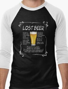 Lost Beer on dark Men's Baseball ¾ T-Shirt
