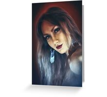 emotion expression dark girl face Greeting Card