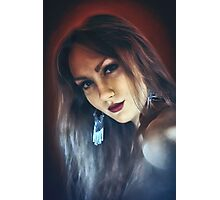 emotion expression dark girl face Photographic Print