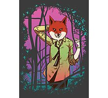 Forest Fox in Tie Photographic Print