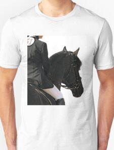 Friesian Horse Waiting To Go   T-Shirt