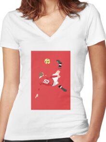 Rooney ARt Women's Fitted V-Neck T-Shirt