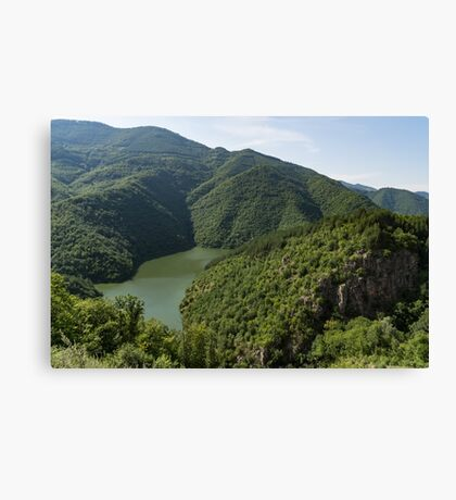 More Than Fifty Shades Of Green - Secluded Lake in the Mountains Canvas Print