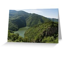 More Than Fifty Shades Of Green - Secluded Lake in the Mountains Greeting Card
