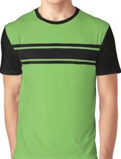 Retro Inspired Stripes Uni Green Flash Spring 2016 Graphic T-Shirt