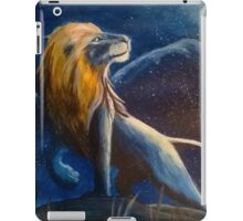 The lion under the moon iPad Case/Skin