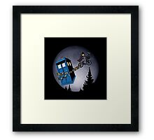 Fourth Doctor Fly With Bicycle Framed Print