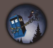 Fourth Doctor Fly With Bicycle Kids Clothes