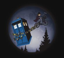 Fourth Doctor Fly With Bicycle by Arief Rahman Hakeem