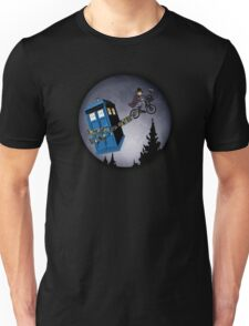 Fourth Doctor Fly With Bicycle Unisex T-Shirt