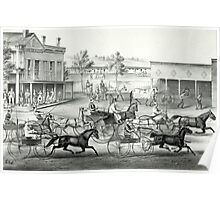 Going to the trot - a good day and good track - 1869 Poster