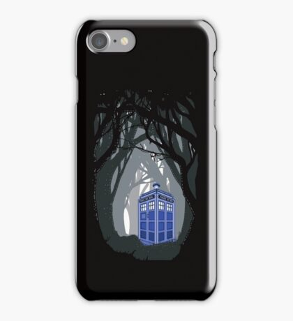 Space And Time traveller Box lost in the woods iPhone Case/Skin