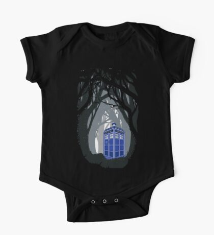 Space And Time traveller Box lost in the woods One Piece - Short Sleeve