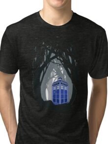 Space And Time traveller Box lost in the woods Tri-blend T-Shirt