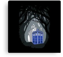 Space And Time traveller Box lost in the woods Canvas Print