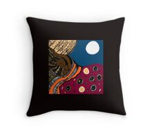 Asleep Series - Ebony Throw Pillow