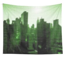 "Pixels Print ""NEW YORK CITY GREEN"" Wall Tapestry"