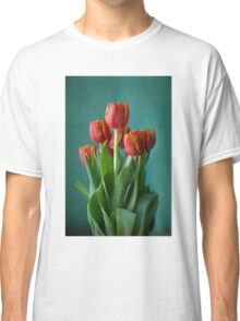 Red and green study of tulips Classic T-Shirt