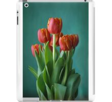 Red and green study of tulips iPad Case/Skin
