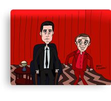 Dale Cooper in the Red Room with the Dancing Little Man Canvas Print