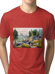 Gold mining in California - 1871 Tri-blend T-Shirt