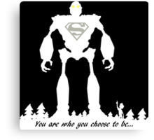 Super Iron Giant (Light) Canvas Print