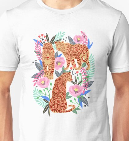 Leopard Idea, leopard print, animal print, flower print Unisex T-Shirt