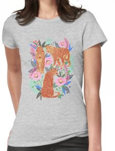 Leopard Idea, leopard print, animal print, flower print Womens Fitted T-Shirt