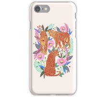 Leopard Idea, leopard print, animal print, flower print iPhone Case/Skin