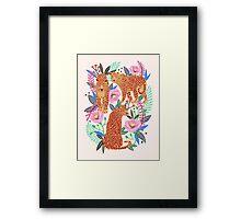 Leopard Idea, leopard print, animal print, flower print Framed Print