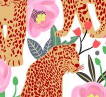 Leopard Idea, leopard print, animal print, flower print Sticker