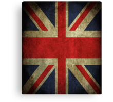 Antique Faded Union Jack UK British Flag Canvas Print