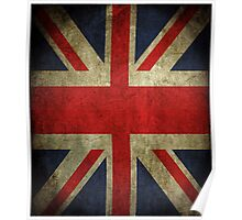 Antique Faded Union Jack UK British Flag Poster