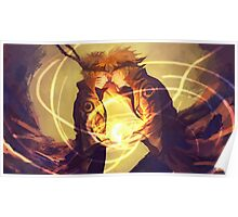 Naruto  and Minato Poster