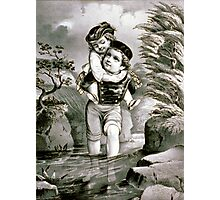 Good little brother - 1872 Photographic Print