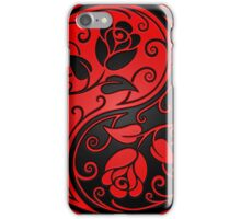 Red and Black Yin Yang Roses iPhone Case/Skin