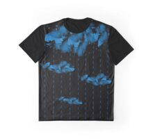 Watercolor cloud and rain drops Graphic T-Shirt