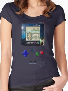 Space And Time traveller Gameboy special edition Women's Fitted Scoop T-Shirt