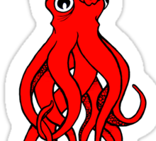 Giant Squid T-Shirt Sticker