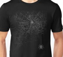 Realistic Cool Spider Web Graphic T-Shirt Novelty  Unisex T-Shirt